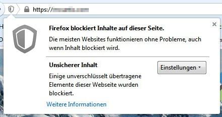 Firefox Warnung