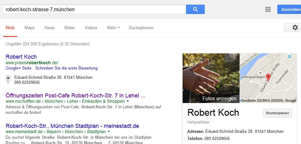 """Suchergebnis zu """"robert-koch-strasse 7, münchen"""""""